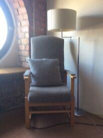 Double drop armchair