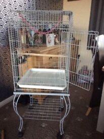 Bird cage for sale, only 1year old. Ideal for a small parrot. Very neat and tidy.