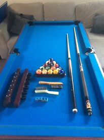 Full size Pool table, everything in photo included!