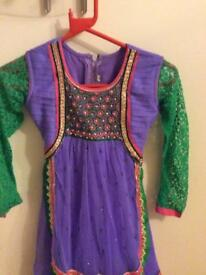 Girls anarkali dress size 28 brand new