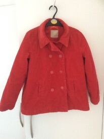 Red needle cord Reefer jacket