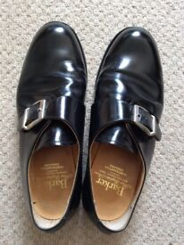 Barkers men's black leather shoes size 9
