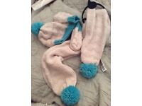 New with tags. M&S hat , scarf and gloves age 3-6 years