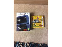 Nintendo 3ds xl with super mario bros 2 and charger