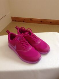 Pink Nike Thea Trainers - size 4