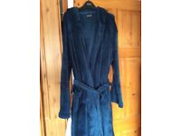 Men's dressing gown with hood and belt