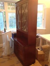 Mahogany display cabinet in excellent condition