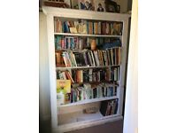 Very Large wood Bookcase Over 6ft high
