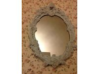 Large Vintage Ornate Pretty Shabby Chic Oval Mirror 14 x 21 £20