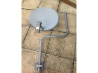 FREESAT or SKY satellite dish with mast