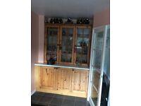 Pine kitchen units