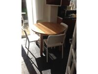 Round Extending Wooden Dining Table - good condition
