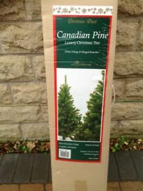 6 foot artificial Christmas tree- Canadian pine