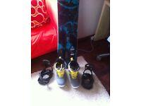 K2 Snowboard (155cm) + DRAKE King Black Bindings (Size Med) + BURTON Invader Grey Boots (Size UK 9)