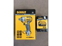 "Brand new DEWALT DCF880N 18v Impact wrench 1/2"" square drive+ 5ah DCB184 battery"