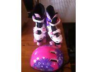 Pink adjustable Roller Skates Sz 13-3