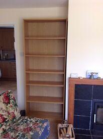Ikea Billy bookshelves in Oak Veneer