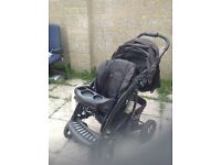 Mother care pushchair with car seat travelling cot safety bag pillow