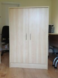 CUPBOARD WITH DOORS - Light Beech in colour