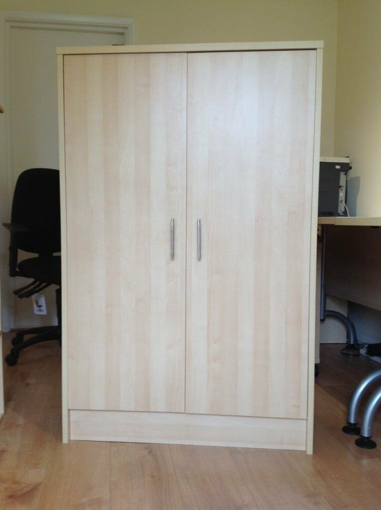 LARGE CUPBOARD WITH DOORS - Light Beech in colour