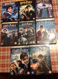Harry Potter DVDs Full set of 8 discs.