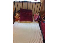 IKEA bed with slatted base in good condition