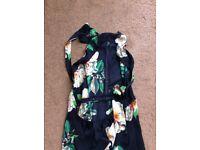 Ladies long silk low back dress, brand new size 12.