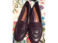 Clarke's Aubergine Real Leather Loafers