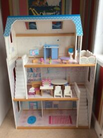 ELC open fronted dolls house complete with furniture.