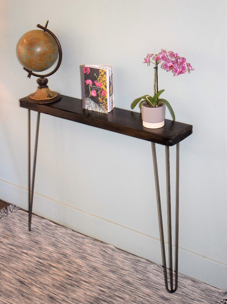 Blackend Narrow Console Table Hairpin Legs
