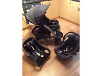Graco smart looking black and grey tour deluxe travel system