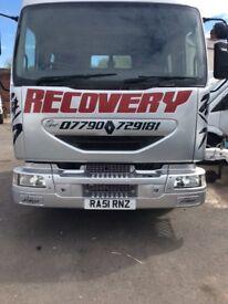 Renault Midlum Tilt And Slide Recovery Truck