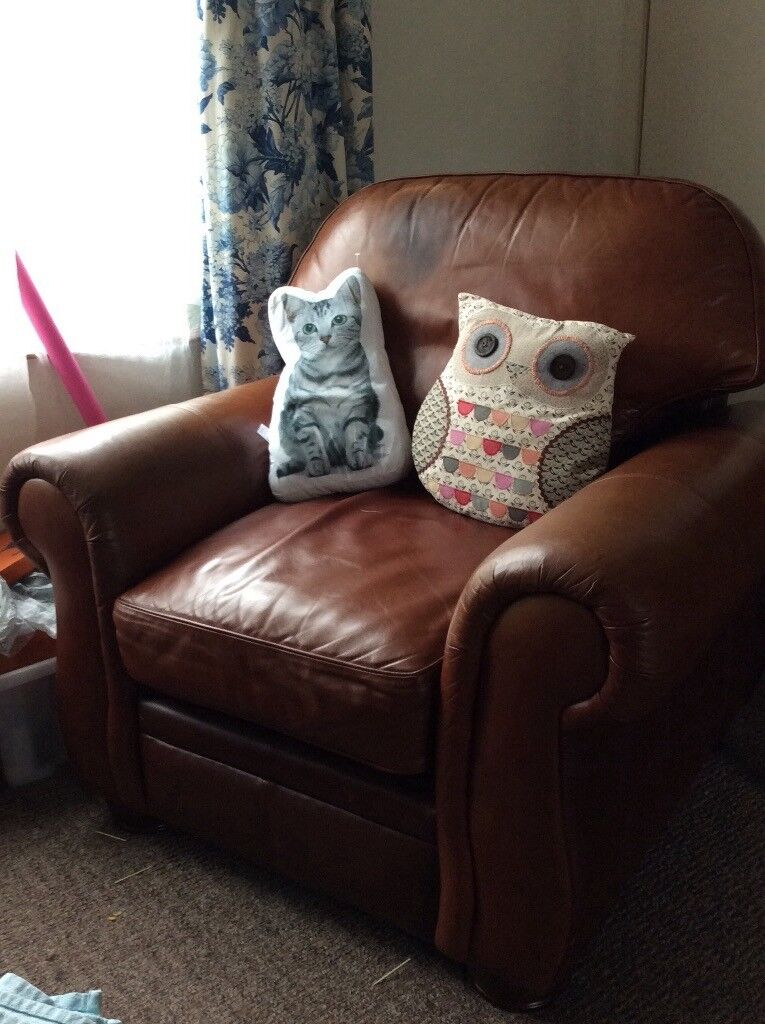 Free Leather Armchair Very Comfy In Kelso Scottish