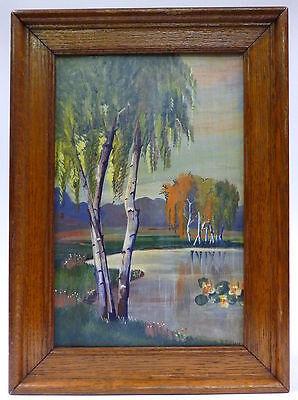 Jugendstil Gemälde im Rahmen signiert um 1900 Frankreich Belgien ?