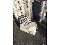 Redland grey concrete roof tiles