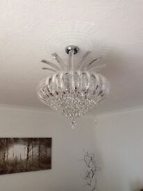 Ceiling light and two wall lights
