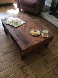 Handmade Rustic Reclaimed Pallet Wood Coffee Table