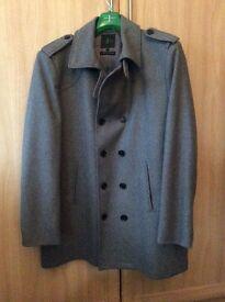 Jasper Conran Grey Wool Coat