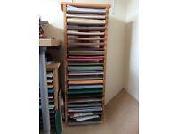 Wooden craft A4 paper storage unit