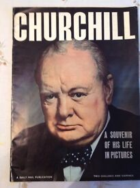 Churchill- A Souvenir of his life in Pictures, a Daily Mail Publication. 1965.