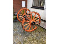 Horse and cart wheels