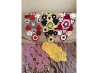 Pretty new crocheted table centre mats/runners