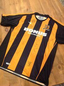 Hull city signed football shirt 2006-2007