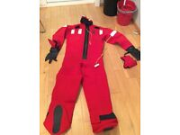 Neoprene abandonment immersion suit