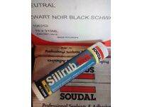 Silicone sealant black and stone adhesive wet wall panels doors..... GREAT PRICE.....