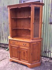 Pine shaped dresser glass doors