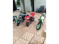 MIDI moto and mini moto spares or repairs no offers