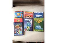 Set of 7 Disney Pixar dvds