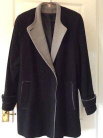 Black coat wool/cashmere