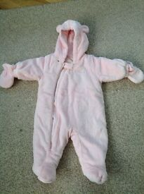 Next baby girl all in one coat